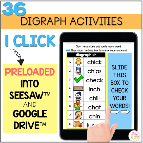 small resolution of Digital Phonics Activities Digraphs - distance learning Seesaw Google  Classroom - Mrs. Winter's Bliss