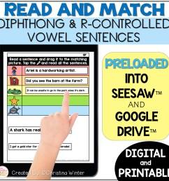 Digital \u0026 Printable Phonics - Diphthong \u0026 R-Controlled Vowel Sentences -  Mrs. Winter's Bliss [ 2400 x 2400 Pixel ]