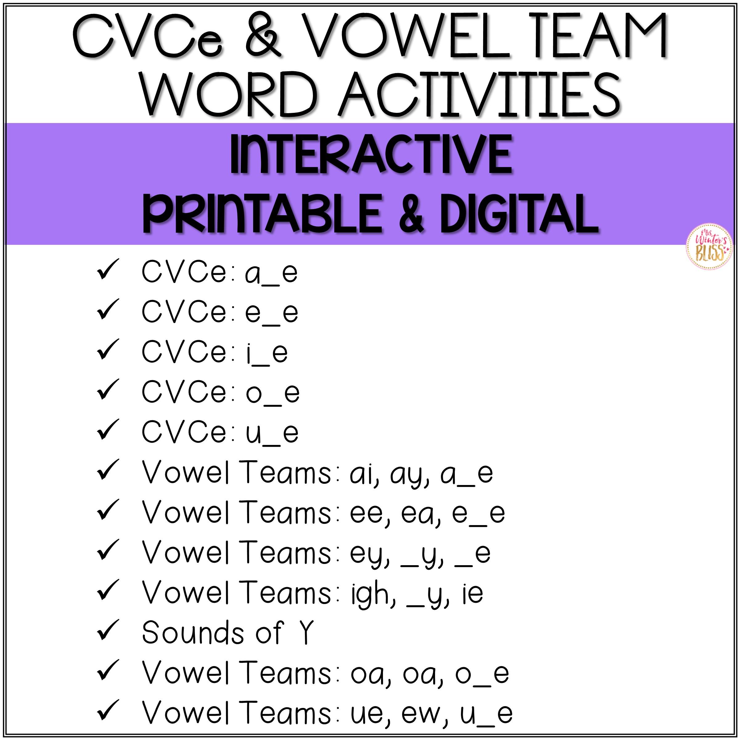 Long Vowel Phonics