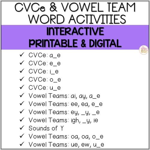 small resolution of Long Vowel Phonics - Printable \u0026 Digital PRELOADED Seesaw™ \u0026 Google  Classroom™ - Mrs. Winter's Bliss