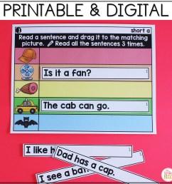 Digital \u0026 Printable Phonics - Short Vowel CVC Sentences for Distance  Learning - Mrs. Winter's Bliss [ 2400 x 2400 Pixel ]