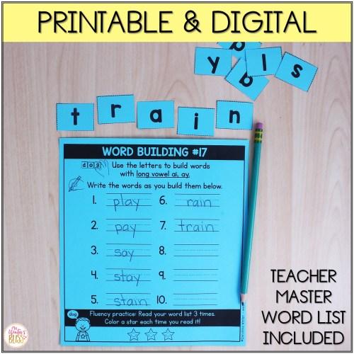 small resolution of Phonics Word Building - digital \u0026 printable - Mrs. Winter's Bliss