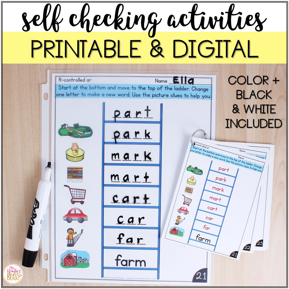 medium resolution of Word Ladders - Printable and Digital Phonics Activities - for distance  learning - Mrs. Winter's Bliss