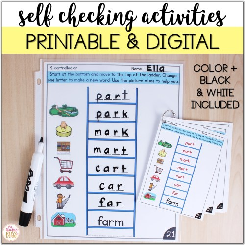 small resolution of Word Ladders - Printable and Digital Phonics Activities - for distance  learning - Mrs. Winter's Bliss