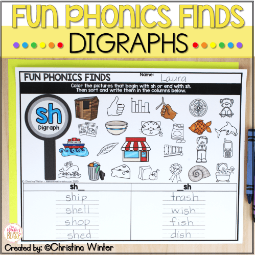 small resolution of Digraph Phonemic Awareness Activities - Digraph Phonics Activities - Mrs.  Winter's Bliss