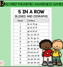 Phonemic Awareness Activities - Blends and Digraphs Worksheet Games - Mrs.  Winter's Bliss [ 1500 x 1500 Pixel ]
