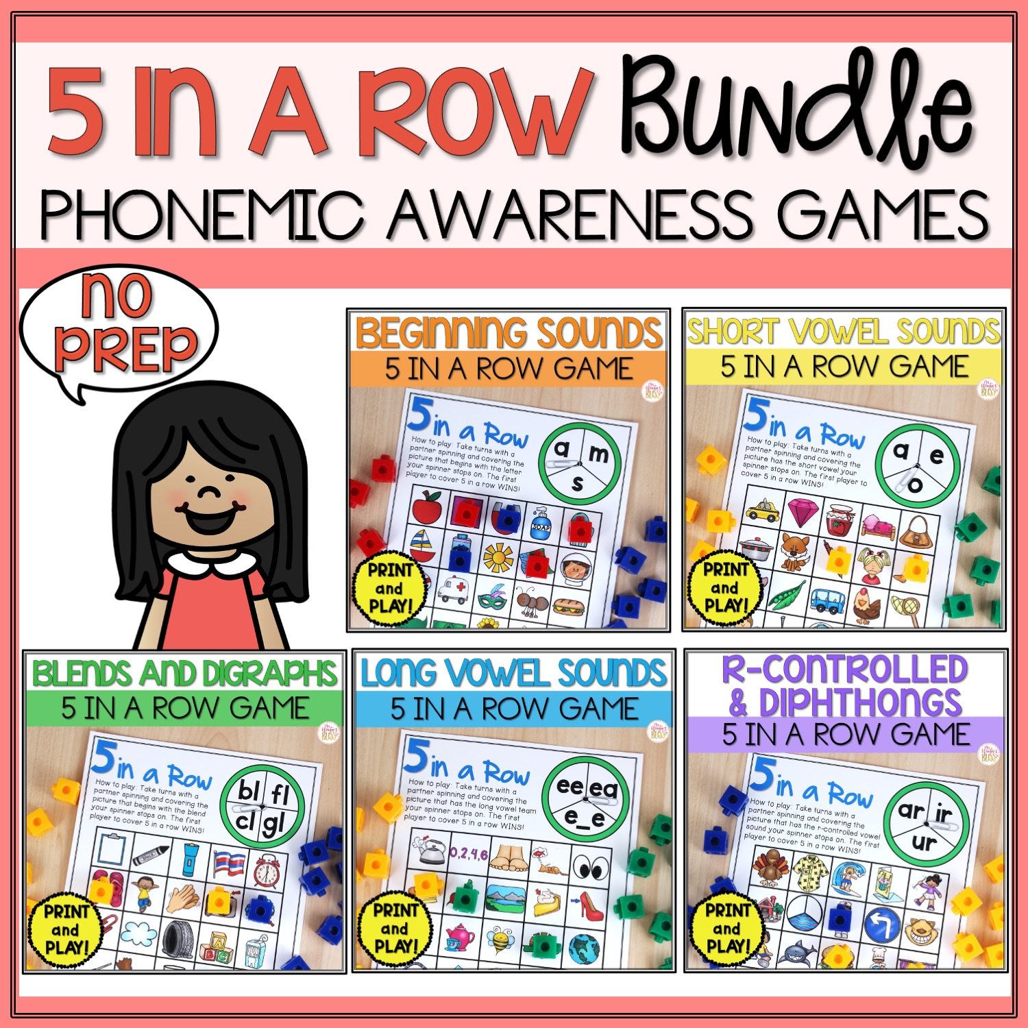 hight resolution of Phonemic Awareness Activities - All Vowels
