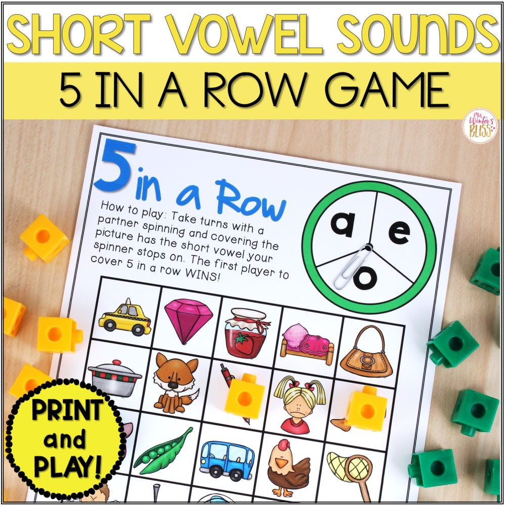 medium resolution of Phonemic Awareness Activities - Short Vowel CVC Worksheet Games - Mrs.  Winter's Bliss
