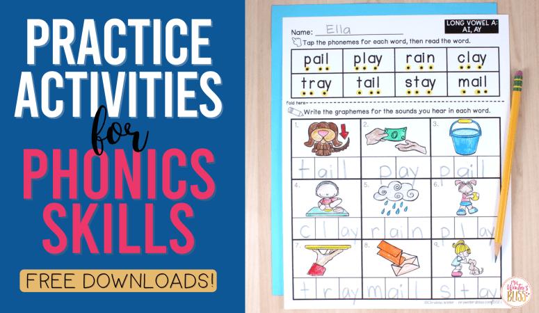 Practice Activities for Phonics Skills