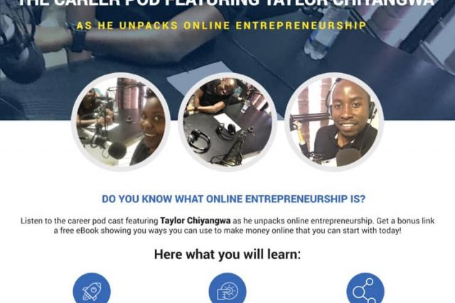 Taylor Chiyangwa featured on the Career Pod by Careers Zim