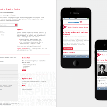 Bank of America's Mobile Responsive Small Business Speaker Series