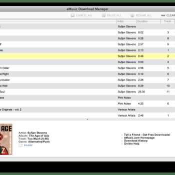 eMusic Download Manager – Mac
