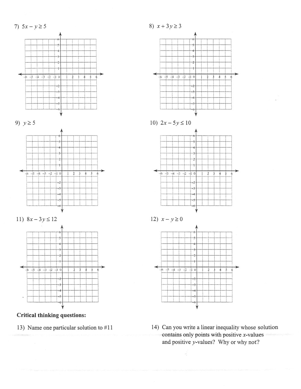 medium resolution of 32 Graphing Linear Inequalities Worksheet Answers - Worksheet Resource Plans
