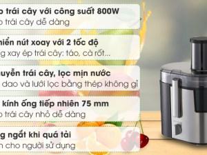 máy ép trái cây công suất lớn panasonic 800w