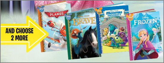 Disney Book Club - Planes Frozen Brave or Monsters University