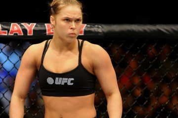 Ronda Rousey pumped up to fight