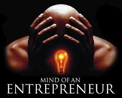 Entrepreneur mind with lightbulb