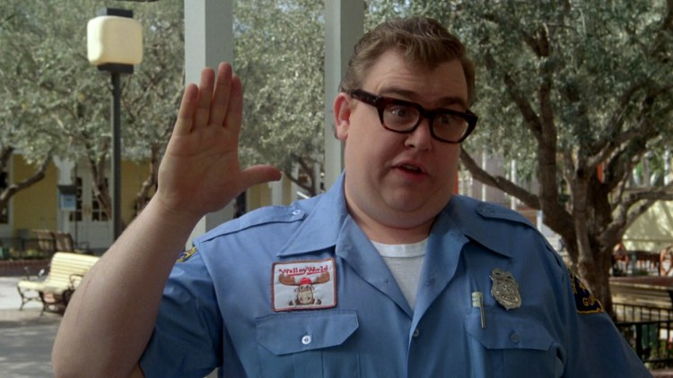 John Candy as a cop on National lampoon's vacation