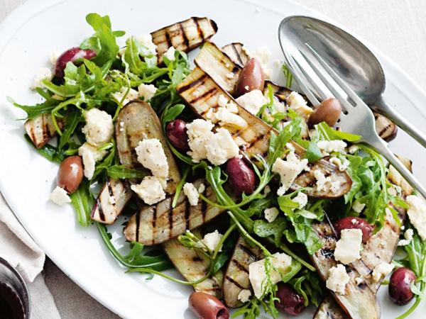 eggplant feta salad
