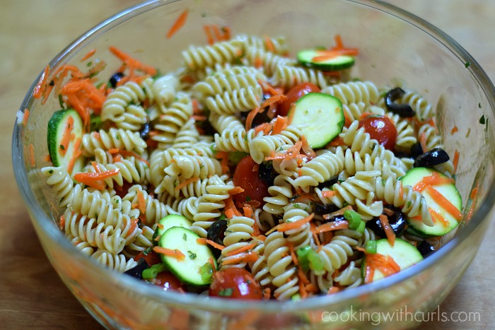 Pasta salad from cookingwithcurls.com