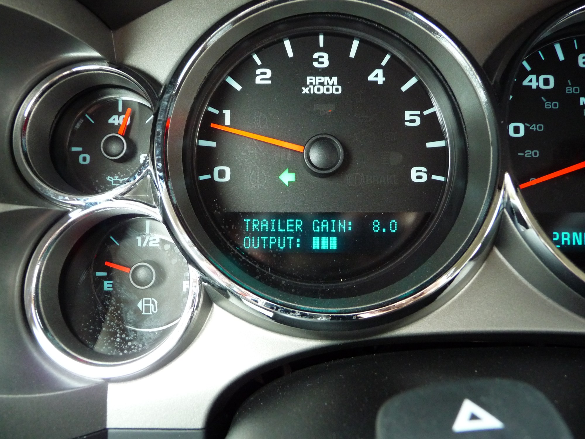 hight resolution of trailer gain scale built into the dash i run gain around 8