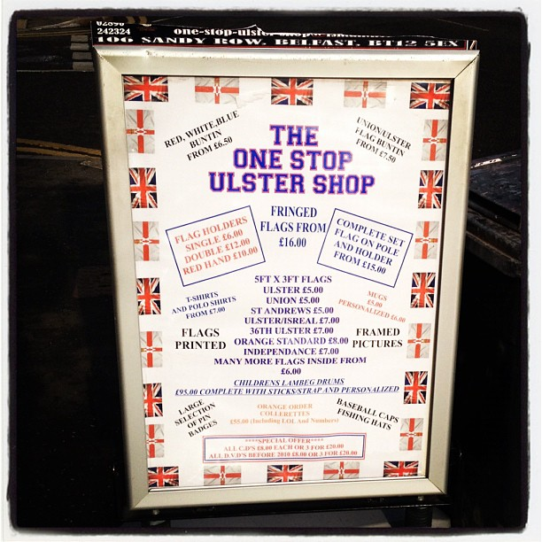 20120207 One Stop Ulster Shop sign
