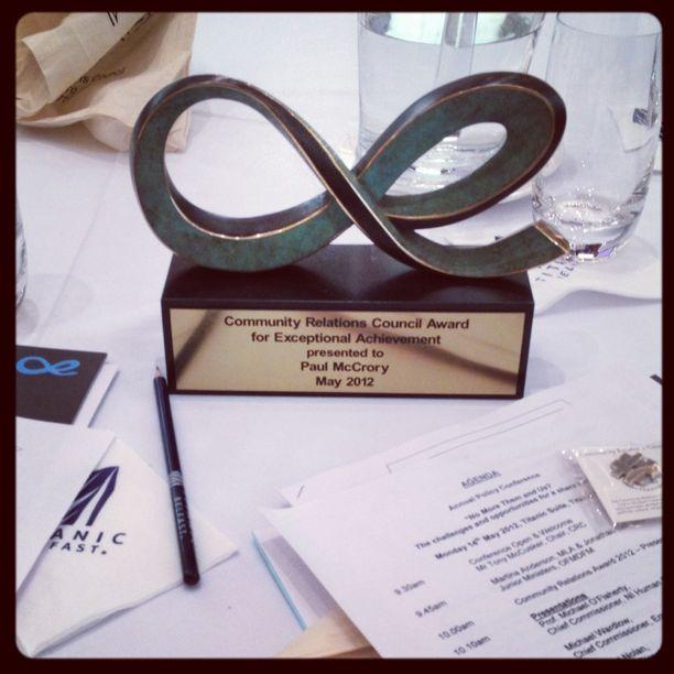 20120514 CRC Exceptional Achievement Award