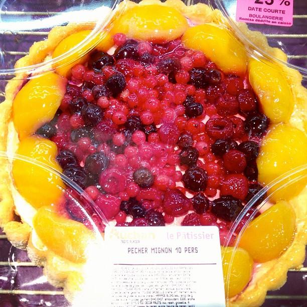 20120924 Pecher mignon fruit tart