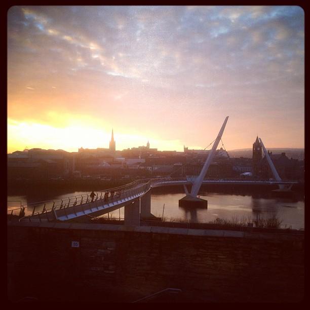 20121130 Peace bridge sunset