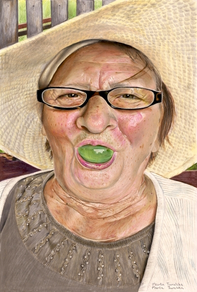 My Grandma with Grape (2016) by Marta TURALSKA.