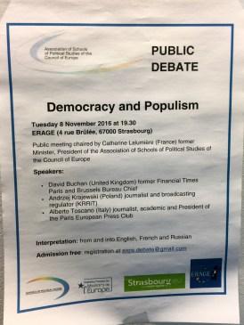 Public Debate: Democracy and Populism