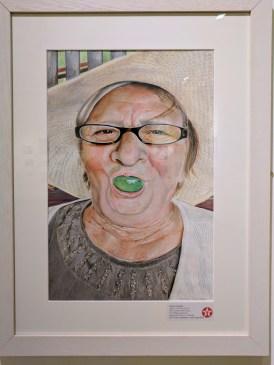 My Grandma with Grape (2016) by Marta TURALSKA. Texaco Children's Art.