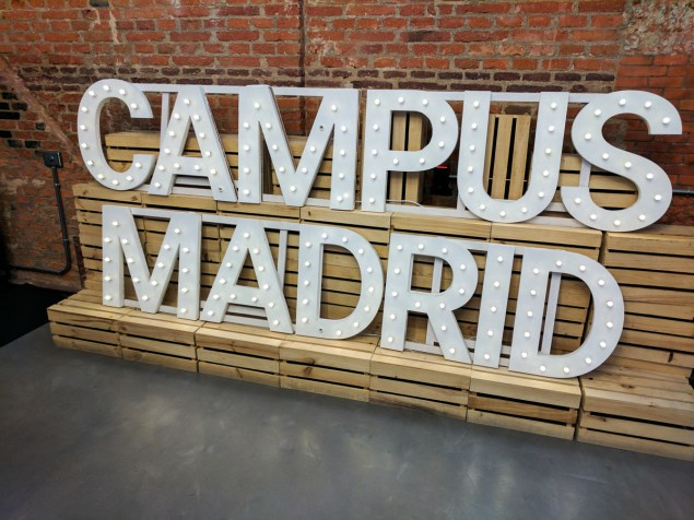 Campus Madrid. Global Fact 4 conference, Madrid, Spain. #GlobalFact4 @factchecknet @Poynter @ReportersLab (c) Allan LEONARD @MrUlster