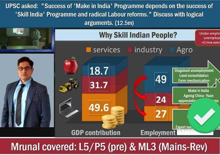 Mrunal.org in UPSC General Studies Mains Paper 3-skill-india