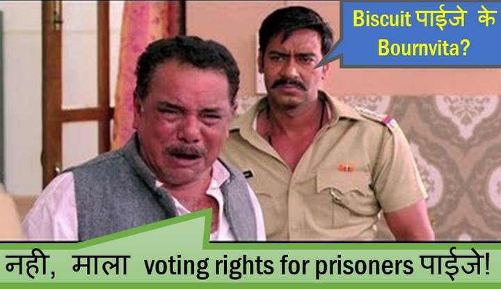 Voting right of prisoners in India