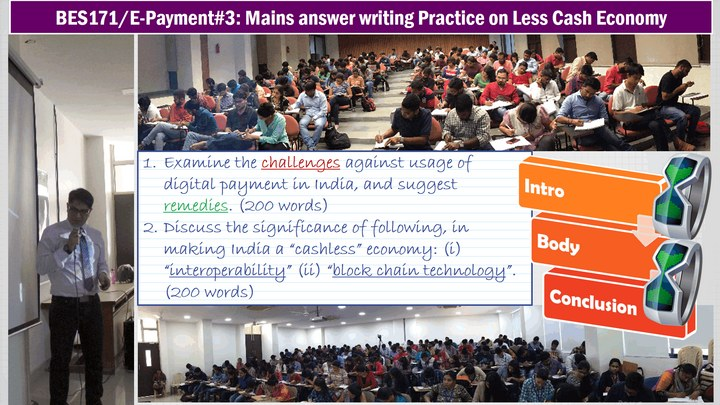 BES171/E-Payment #3: Mains Answer writing Practice on Digital Payment Mock Questions