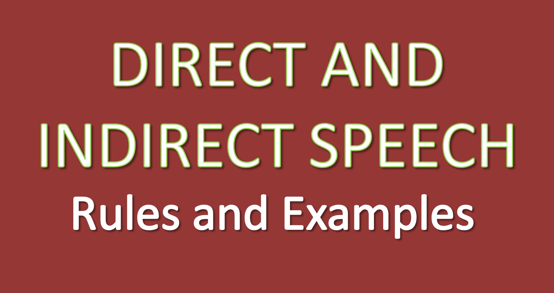 Direct And Indirect Speech Mr Universe