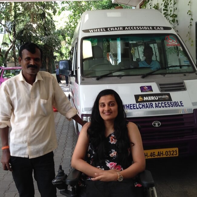 Booking wheelchair accessible taxi in Mumbai