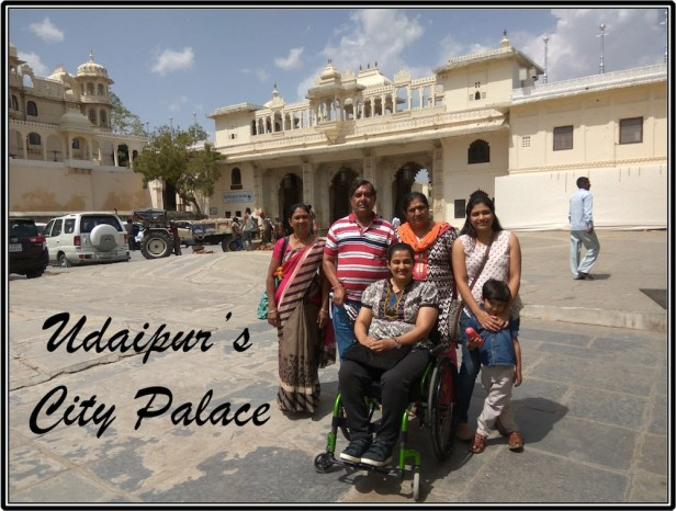 With family at Udaipur City Palace