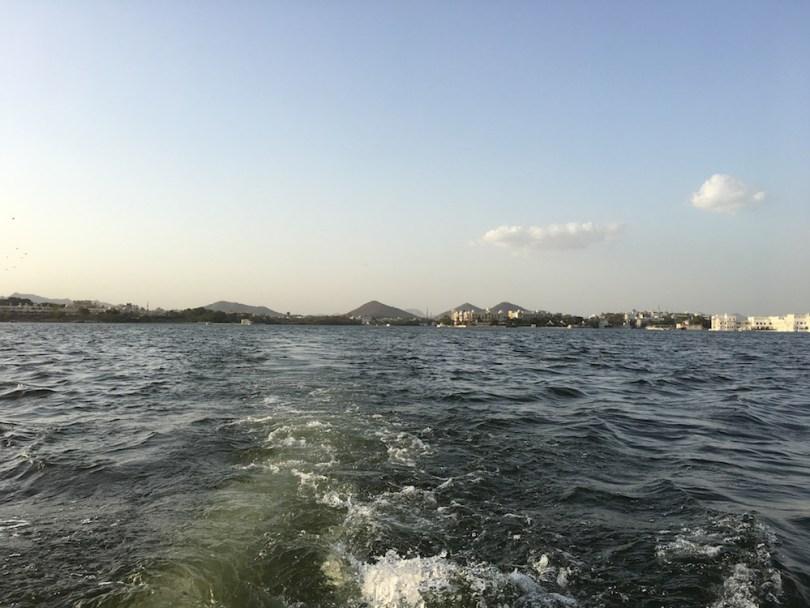 Speeding through Lake Pichola