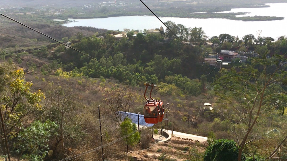 View from the top of ropeway ride