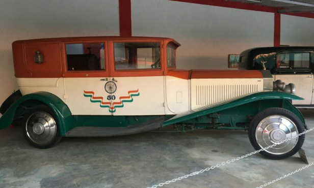 Dressed in the Indian tri-colour, Azad is a Rolls-Royce Phantom I, a 1926 model from England