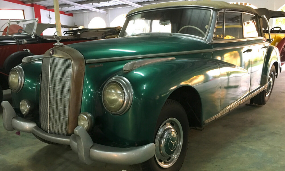 This Mercedes-Benz, a 1955 model from Germany, was once used by Dr. Rajendra Prasad, the first President of India.