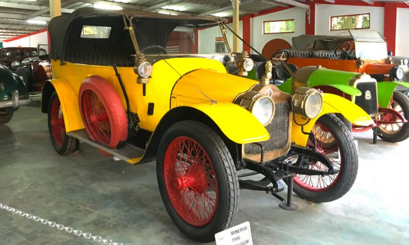 Minerva is the oldest car in the museum, a 1906 model from Belgium.