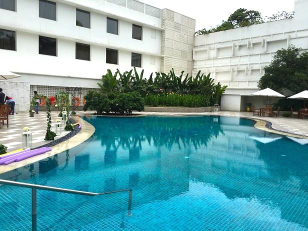 Swimming pool at The Claridges