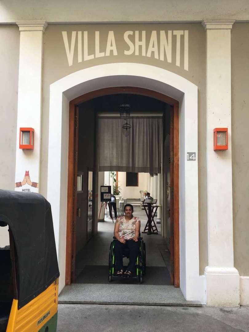 Entrance of Villa Shanti