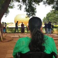 Holidaying in Pondicherry on my wheelchair