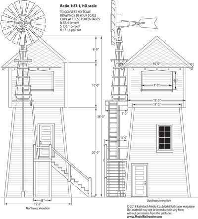 Plans and materials list for a California tank house