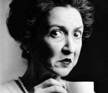 disgusted woman holding tea