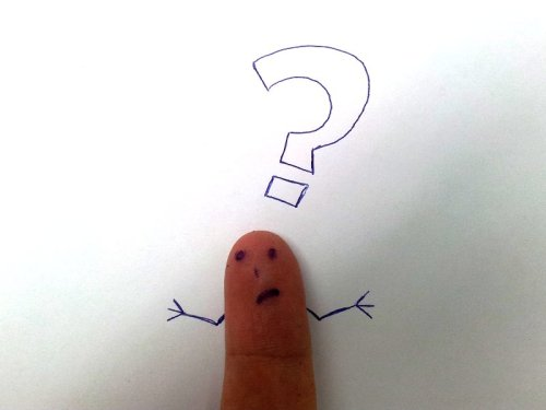 Finger face with a question by Tsahi Levent-Levi